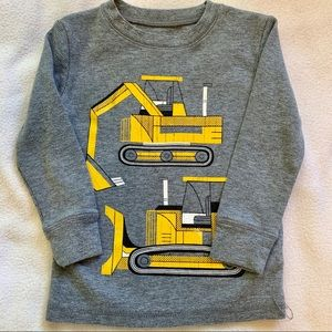 Size 3T construction thermal long-sleeve shirt